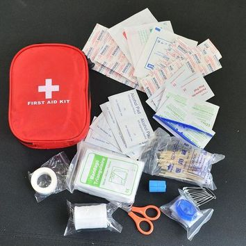ONETOW 120pcs/pack Safe Camping Hiking Car First Aid Kit Medical Emergency Kit Treatment Pack Outdoor Wilderness Survival