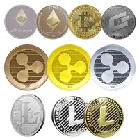 Replica & Collectors Coins Bitcoin/Ethereum/Lite/Dash/Ripple