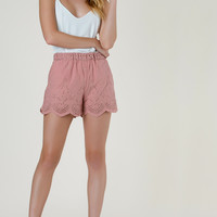 Let's Brunch Embroidered Shorts