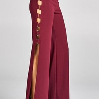 Arden Gold Link Open Side Flare Pants