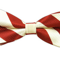 Classic Twill - Red and Ivory (Bow Ties) from TheTieBar.com - Wear Your Good Tie Everyday