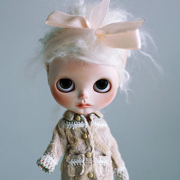 EMERGENCY SALE  40% off for a week OOAK Custom Blythe doll, hand painted art doll reduced from 650e