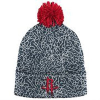 Mens Houston Rockets Mitchell & Ness Gray Crack Pattern Cuffed Knit Hat