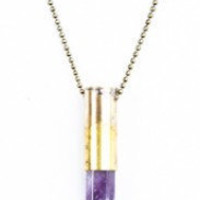 Vintage Purple Crystal Bullet Necklace by allthingswildandfree