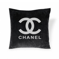 Chanel Logo PillowBlack by CocoMyChanel on Etsy