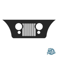 Jeep CJ Grille Windshield Decal