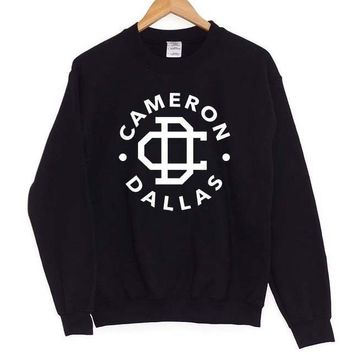 Cameron Dallas Print Women Sweatshirt Jumper Casual Hoodies For Lady Hipster Street Black Gray Drop Ship ZT-9