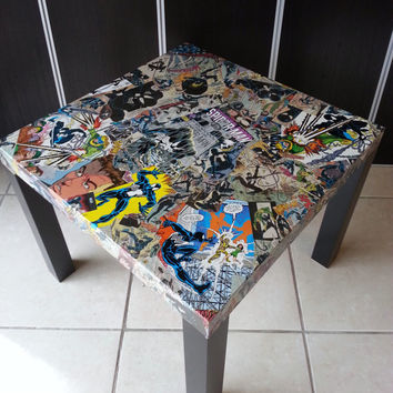 Spiderman-Black Costume Comic Collage Table FREE SHIPPING USA
