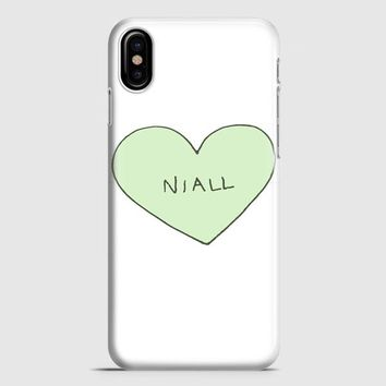 Niall Horan Heart Tshirt iPhone X Case