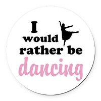 Rather Be Dancing Round Car Magnet> Office, Electronics, Wall Art & More> The Dancer Space