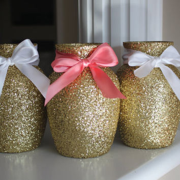 Baby Shower Centerpiece, Gold Wedding Centerpiece, Gold Centerpiece, Baby Girl Shower, Gold Wedding, Baby shower Decor, Wedding Table Decor