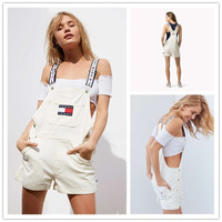 shosouvenir : Tommy Jeans '90s Shortall Overall   Urban Outfitters