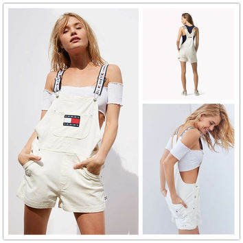 shosouvenir : Tommy Jeans '90s Shortall Overall | Urban Outfitters