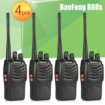 ONETOW 4pcs BaoFeng BF-888S UHF Rechargeable Walkie Talkies CB two Way Radio Communicator Portable Handheld Two Way Radio Transceiver