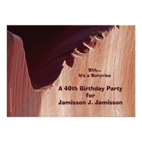 Surprise 40th Birthday Party Invitation Canyon