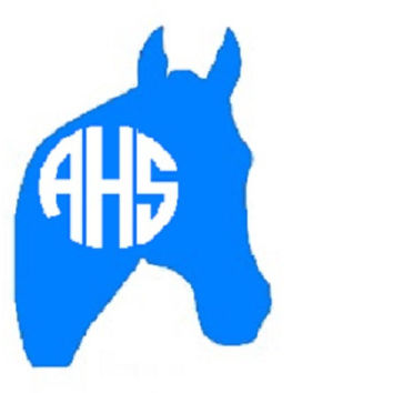 Horse Monogram Decal - Equestrian Monogram Car Sticker