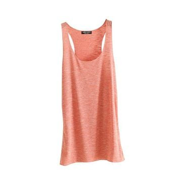 Women Fitness Tank Top T Shirt Vest Loose Model Women T-shirt Cotton O-neck Slim Tops Clothes