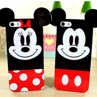 Mickey Mouse his and hers Minnie Mouse Skin Case Cover for iphone 4 4S 5 5S 6 6plus