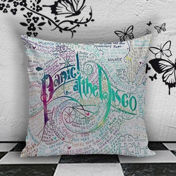 BDP 87 Panic At The Disco Lyric - Pillow Case 16x16, 2 side