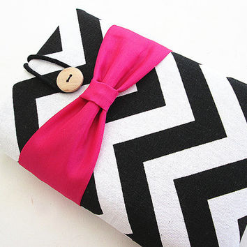 Bow Kindle Sleeve, Kindle fire sleeve cover, Nook cover, Google Nexus 7 case-Chevron