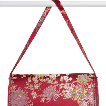 Silk Road Plum Brocade Purse