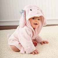Adorable Pretty in Pink Poodle HoodedTerrycloth Spa Robe by Baby Aspen - Whimsical & Unique Gift Ideas for the Coolest Gift Givers