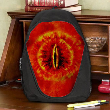 The Lord Of The Rings The Hobbit Middle Earth The Eye Of Sauron Teen Kids Canvas School Backpack Bag Rucksack