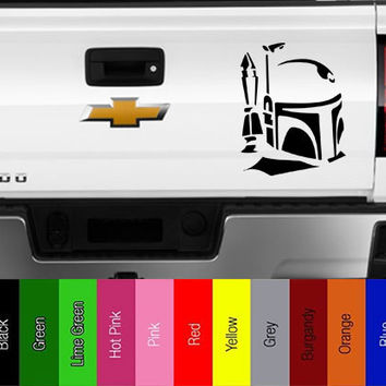 Star Wars - Boba Fett Helmet - Vinyl Decal for Car, Truck, Wall, Laptop - Jedi, Empire, Rebel, Skywalker,