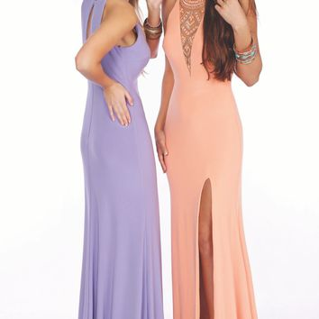 Beaded Slit Gown by Le Gala by Mon Cheri