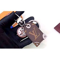 Free shipping-LV multi-function keychain Coffee