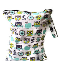 Large Wet Bag, Cloth Diaper Wet Bag, Wet Bag for Cloth Pads, Water Resistant Bag, Wet Bathing Suit Bag