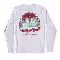 Sweet Southern Belles Long Sleeve Tee in White by Lauren James - FINAL SALE