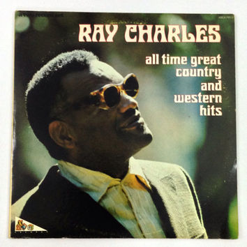 Vintage 70s Ray Charles All Time Great Country And Western Hits Album Record Vinyl LP