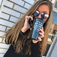 Top Knot Travel Coffee Mug