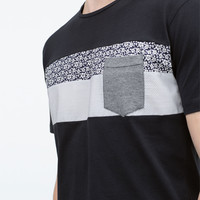 FABRIC BAND T-SHIRT