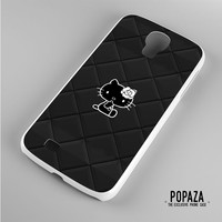 Hello Kitty Logo Black Samsung Galaxy S4 Case