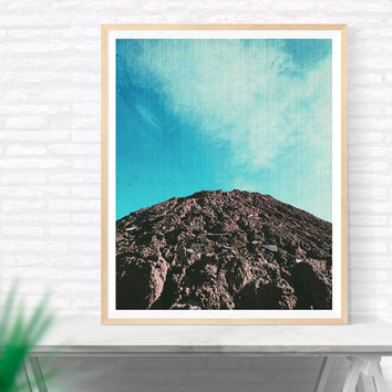 Mountain Photography Printable, Mountain Landscape, Blue Wall Decor, Clouds Photography, Mountain and cloud Wall Art, Wilderness, Travel