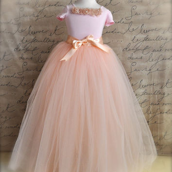 Vintage pink Flower Girl princess tutu blush by TutusChicBoutique