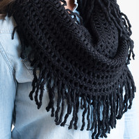 The Infinite Infinity Scarf Black