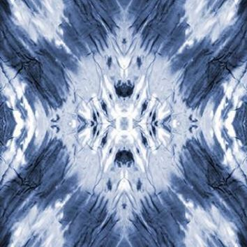 Tie Dye Blue Wash Printed Photography Background - 6237