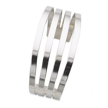 Sterling Silver Wide Split Cuff Bracelet 62mm
