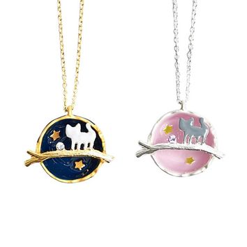 New Arrival Fashion Symphony Cosmic Gem Kitten Long Necklace Cat necklace women accessories jewelry