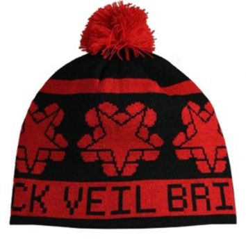 Black Veil Brides Logo Red and Black Bobble Beanie - Offical Band Merch - Buy Online at Grindstore.com