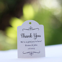 Wedding Favor Tag, Personalized Gift Tags or Shower Favor Tags, Custom Labels, Custom Gift Card - 20