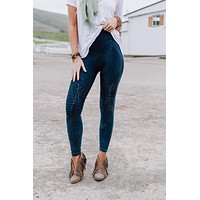 Highwaisted Moto Jegging - Denim