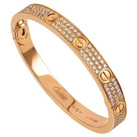 Cartier Diamond Pave Gold Love Bracelet