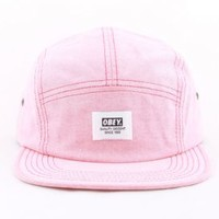 OBEY, Hamptons 5 Panel Hat - Red - Hats - MOOSE Limited