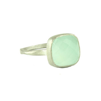 Silver Chalcedony Ring