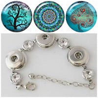 Noosa style bracelet plus 3 Snap button Charms buttons that will fit ginger snap style jewelry.