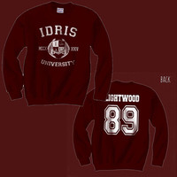 Lightwood 89 IDRIS University Shadowhunters The Mortal Instruments Unisex Crewneck Sweatshirt Maroon